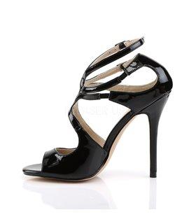 Sandalette AMUSE-15 - Lack Schwarz