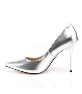 Stiletto Pumps CLASSIQUE-20 - PU Silber Metallic