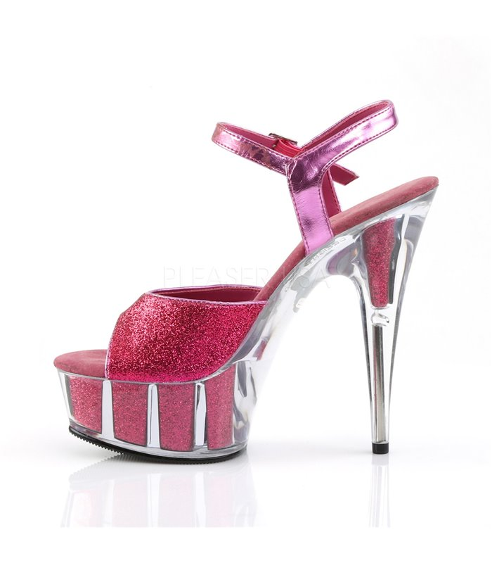 Plateau High Heels DELIGHT 609 5G Hot Pink