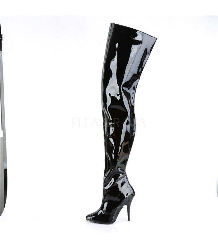Crotch Boots SEDUCE-4010 - Schwarz