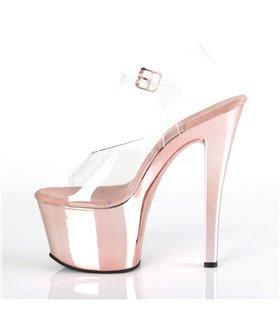 Plateau High Heels SKY-308 - Rosé Chrom