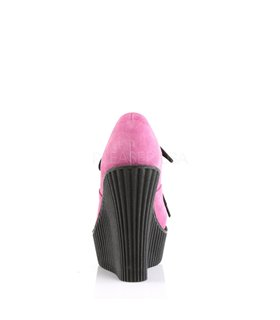 Demonia Halbschuhe CREEPER-304 Pink