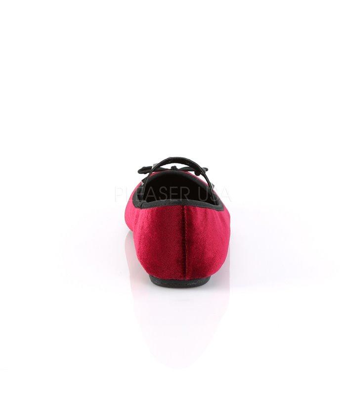 Demonia Ballerinas DRAC-07 Rot