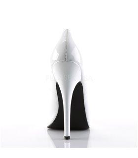 Extrem High Heels DOMINA-420 - Lack Weiß