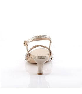 Kitten Heel Sandalette AUDREY-03 - Nude