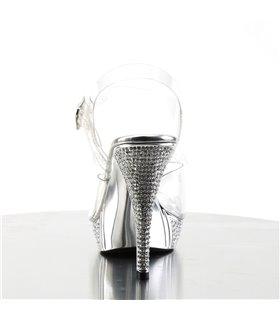 Sandalette ELEGANT-408 - Silber