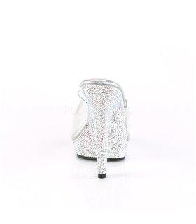 Pantolette LIP-101SDT - Klar/Silber