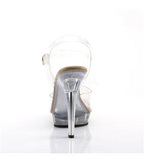 Sandalette LIP-108 - Klar/Tan