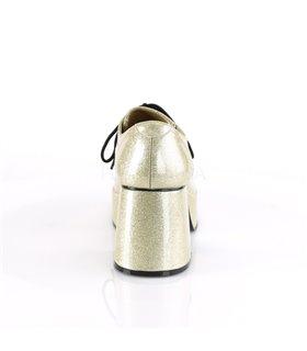 Herren Plateauschuhe JAZZ-02G - Glitter Silber