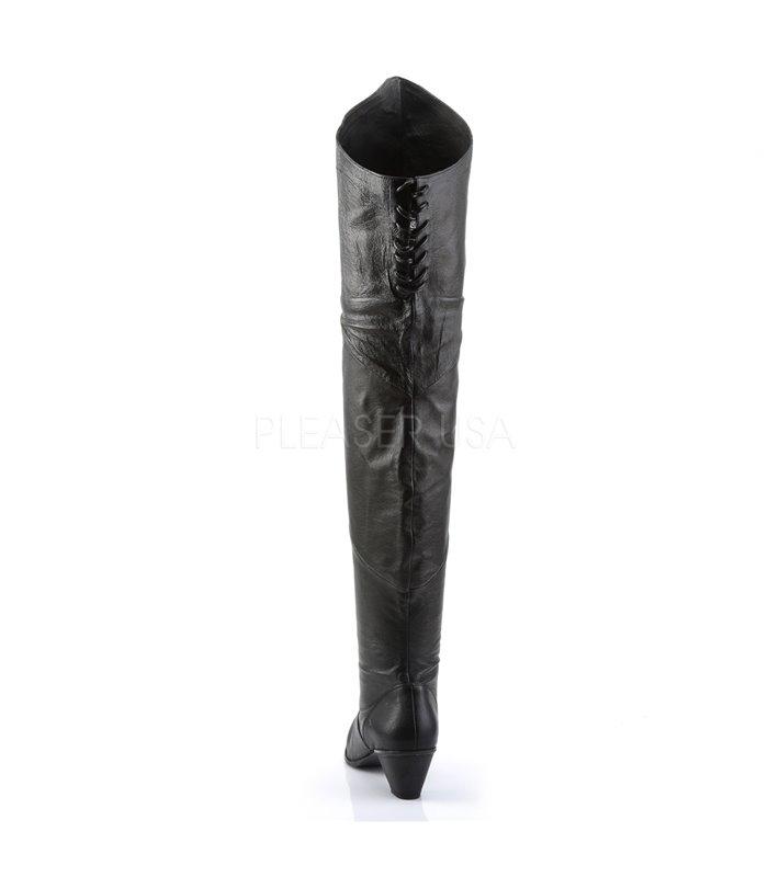 Funtasma Overknee Stiefel MAIDEN-8828 Schwarz Leder (P)