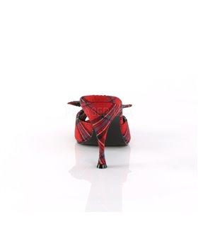 Pantolette MONROE-08 - Rot kariert