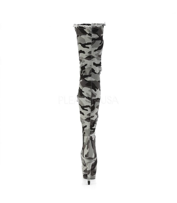 Camouflage Stiefel Plateau Delight Overknee 3005 rQCoedBxWE