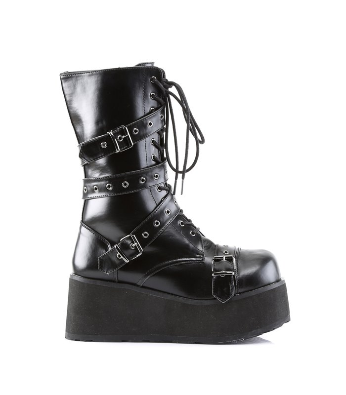 Gothic Plateaustiefel TRASHVILLE-205
