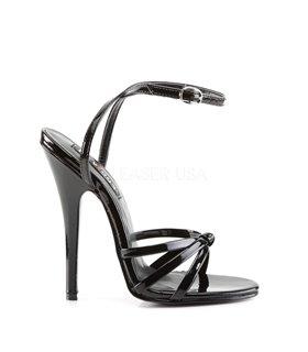 Extrem High Heels DOMINA-108 - Lack Schwarz