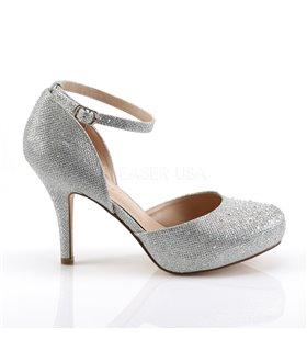 D'Orsay Pumps COVET-03 - Silber Glitter