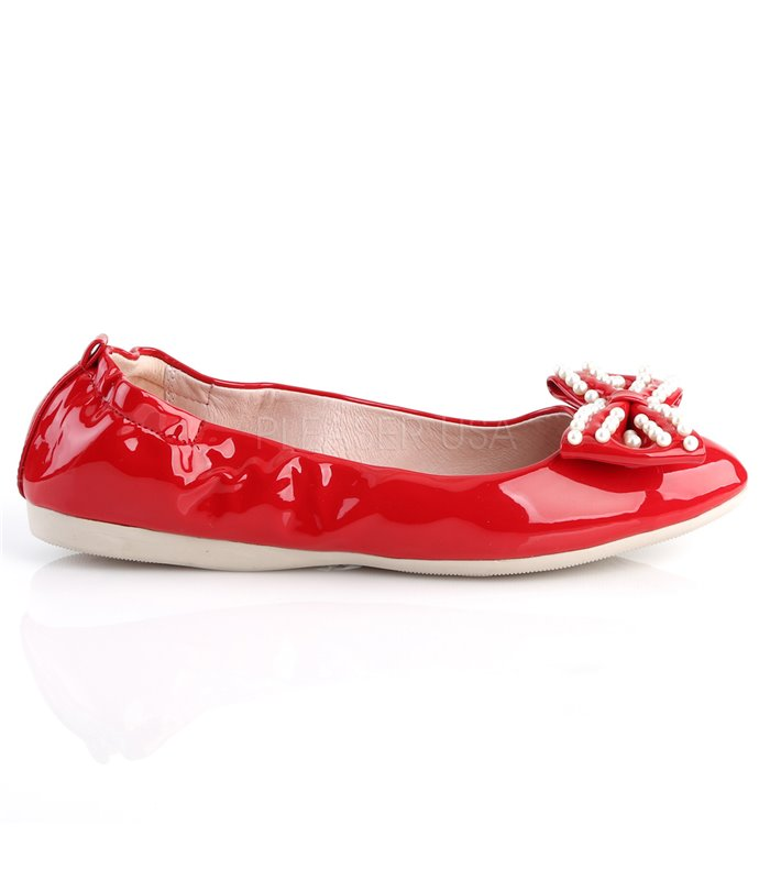Pin Up Couture Ballerinas IVY-09 Rot