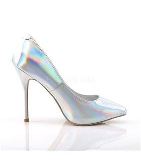 Pumps AMUSE-20 - PU Silber Hologramm