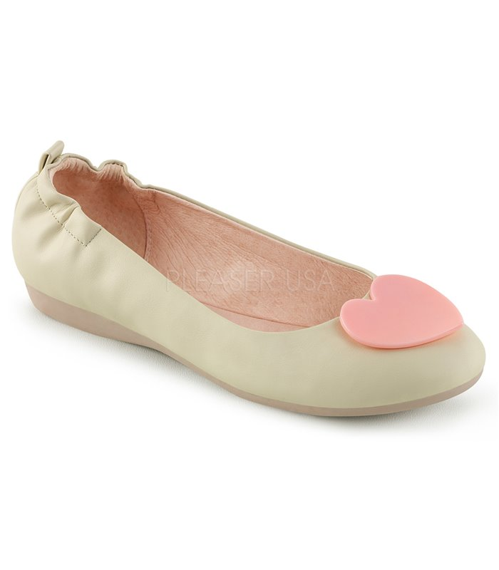 Pin Up Couture Ballerinas OLIVE-05 Beige