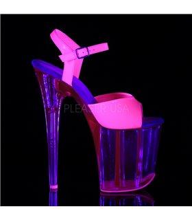Extrem Plateau Heels FLAMINGO-809UVT - Neon Pink