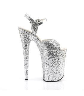 Extrem Plateau Heels  INFINITY-910LG - Silber