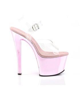 Plateau High Heels SKY-308 - Baby Pink Chrom