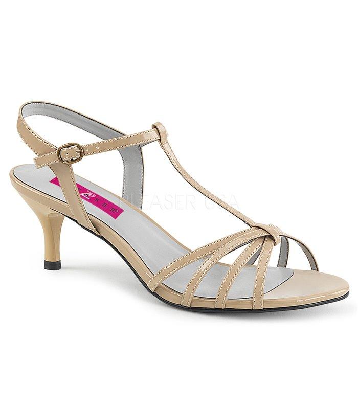 outlet store 2eb7d 6996b Sandaletten KITTEN-06 Beige von Pleaser Pink Label
