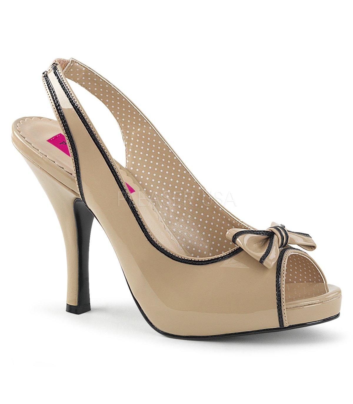 Sandaletten Pleaser Pink Label Pinup 10 Beige Kaufen