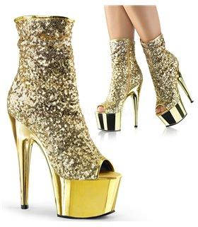 Pailletten Stiefelette ADORE-1008SQ - Gold