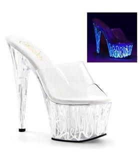 Neon Pantolette ADORE-701UVL - Klar/Weiß