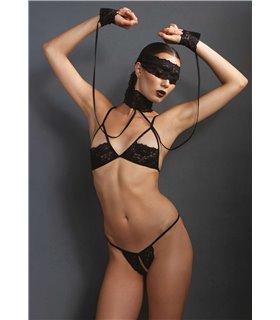 Leg Avenue 4PC. Bondage Lingerie Set sexy Fetisch online kaufen
