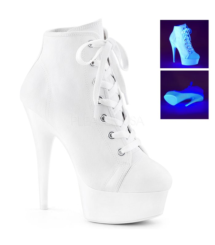 Canvas High Heel Sneakers DELIGHT-600SK-02 - Weiß