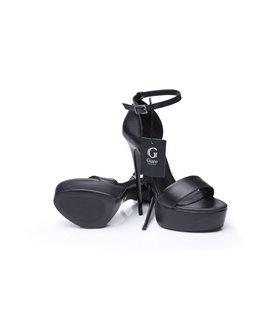 Giaro Galana 1002  luxus Plateau Sandaletten in schwarz matt