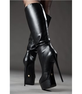 Giaro Galana 1003 Stiefel luxus Plateaustiefel in schwarz