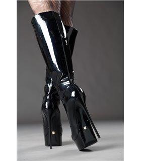 Giaro Galana 1003 Stiefel luxus Plateaustiefel in schwarz lack