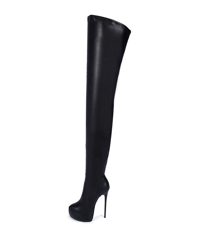 EU 46 SALE /% Giaro BRAVE Luxus Damen Herren Stiefel schwarz lack EU 37