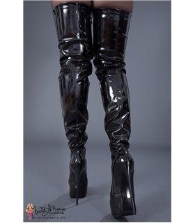 Giaro Galana 1004 Stiefel luxus Plateau Overkneestiefel in in schwarz lack