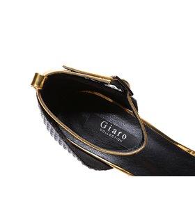 Giaro Galana 1002 Damen Herren Sandaletten Gold 3D Muster
