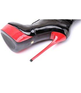 Giaro Galana 1003 Damen Herren Unisex Plateau Stiefel schwarz rot