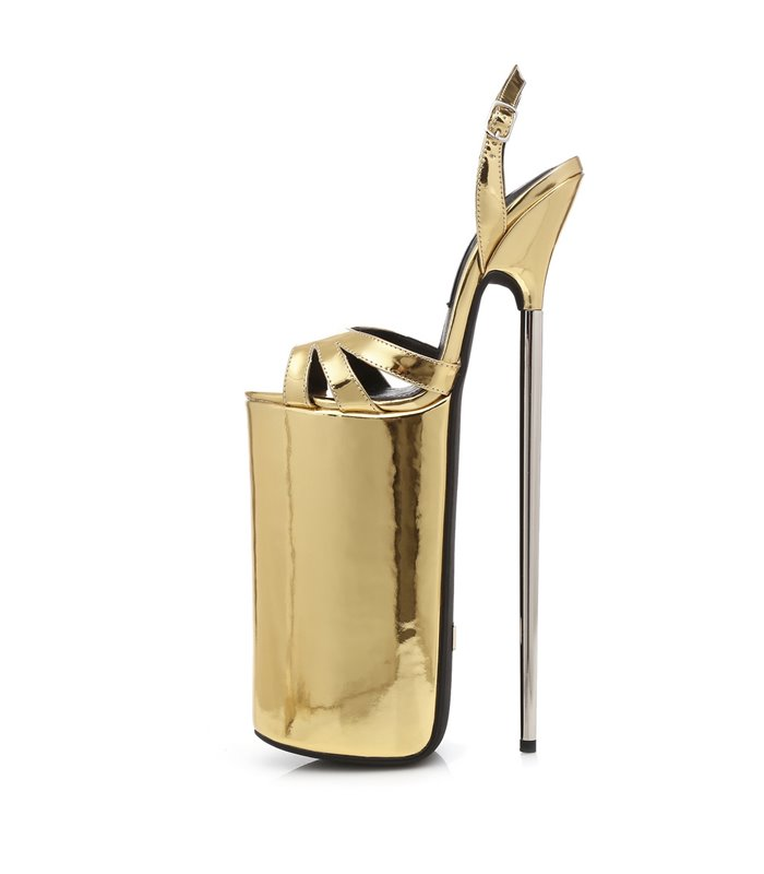 Giaro Extreme Plateau Pumps FLY OPEN Gold