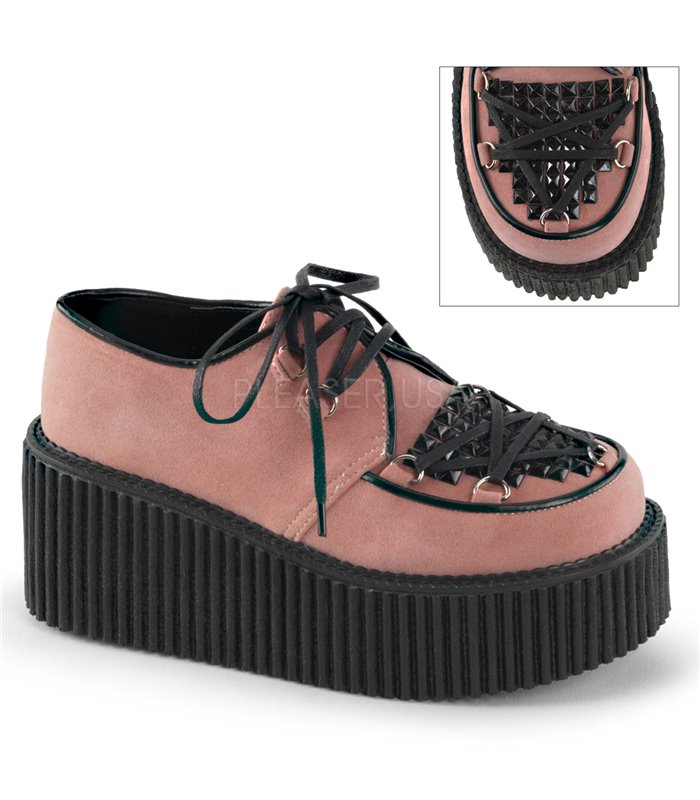 Demonia Halbschuhe CREEPER-216 Pink