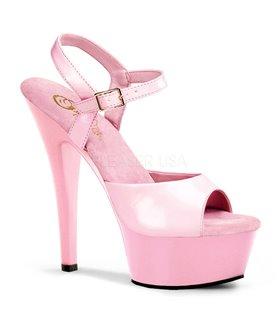 Plateau High Heels KISS-209 - Lack Baby pink