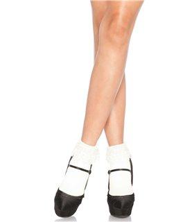 Anklet socks, venice lace top