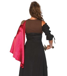 Harness vest with satin cape