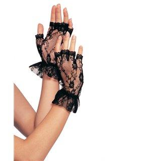 Lace Ruffle Gloves Incl.12Pcs