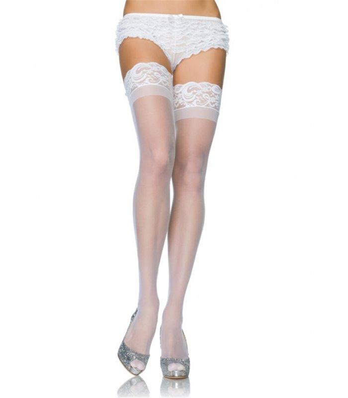 Leg Avenue Plus Size Sheer Stay Up's sexy Strümpfe