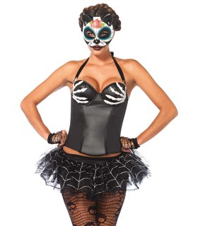 Leg Avenue Bony Hands Corset Sexy Kostüm - Halloween und Karneval