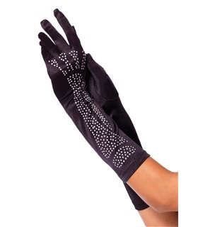 Leg Avenue Rhinestone Bone Gloves sexy Accessories