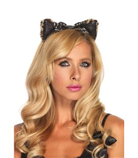 Leg Avenue Plush Cheetah Ear Headband sexy Accessories