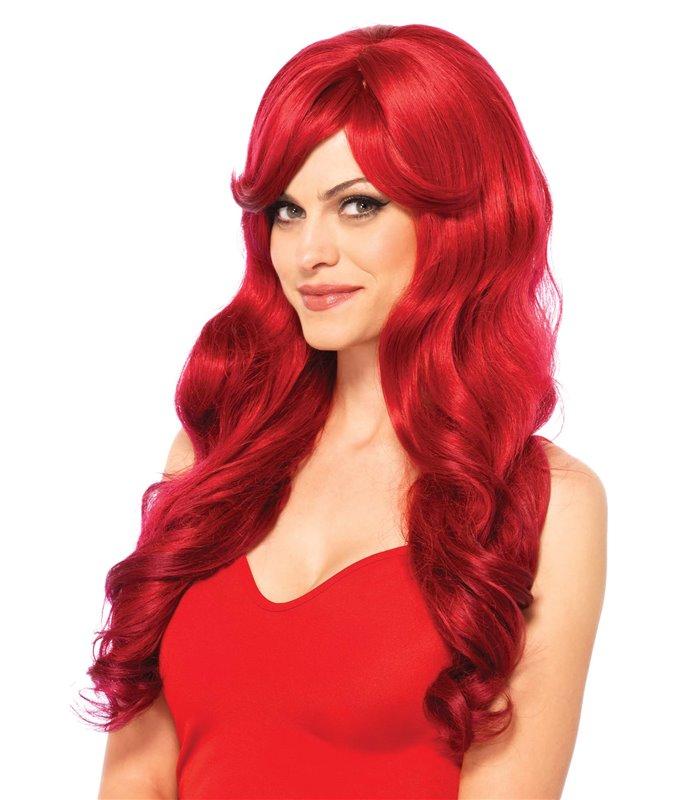 Leg Avenue Long Wavy Red Wig Perrücke