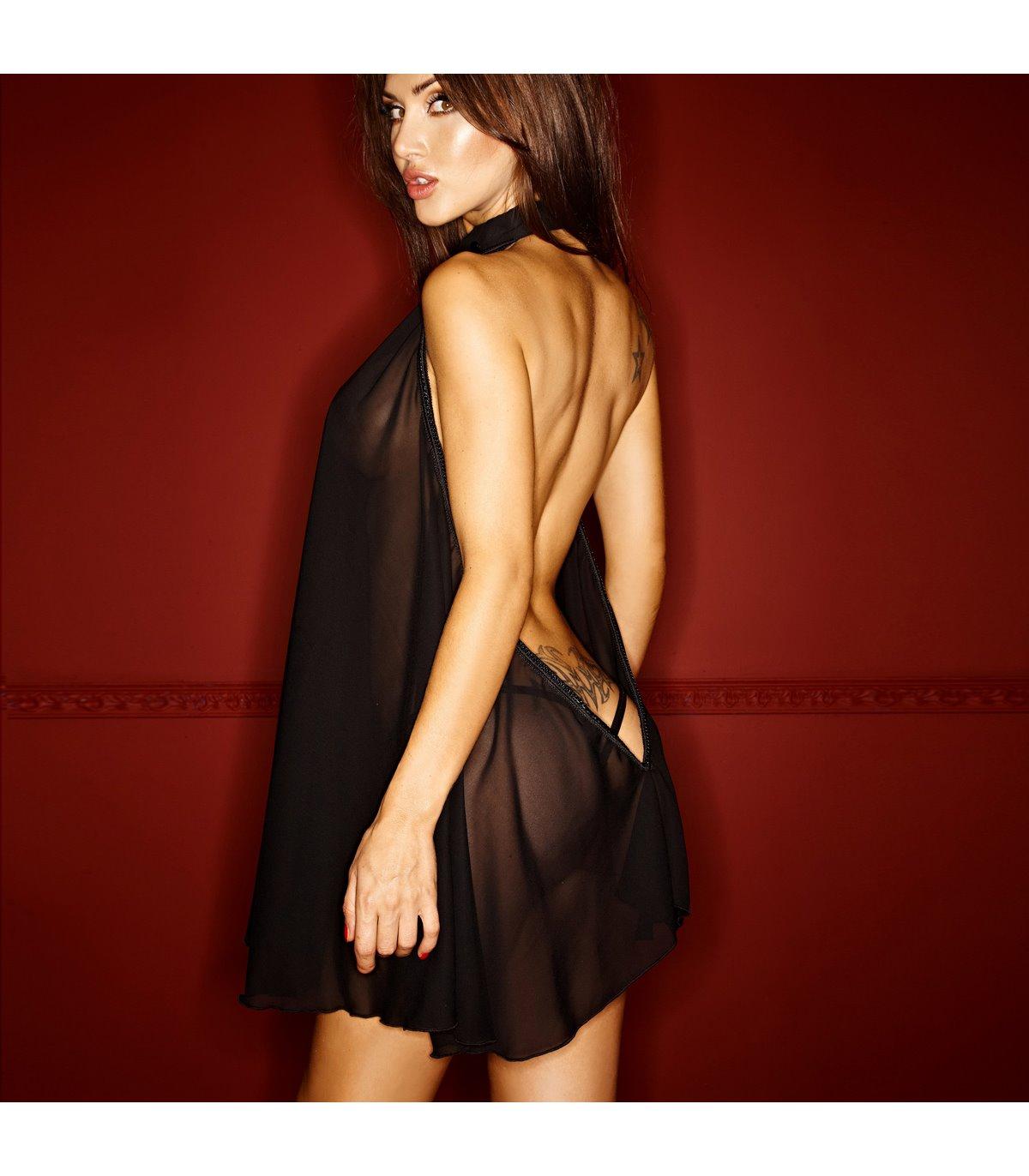 Chiffon Neckholder Kleid online günstig kaufen